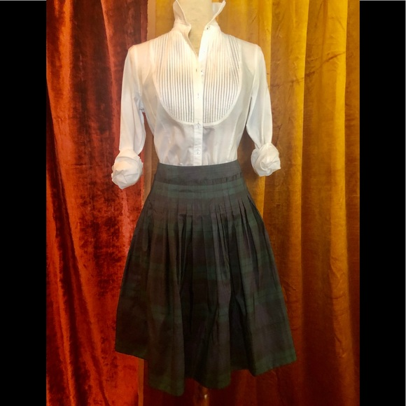 Talbots Dresses & Skirts - TALBOTS TAFFETA TARTAN HIGH WAISTED SKIRT    SZ 6